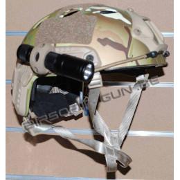 Adaptateur 20mm pour lampe ou laser sur casque avec rail noir