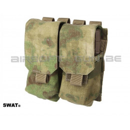 SWAT cordura double poche MOLLE M4 A-tacs FG