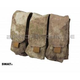 SWAT cordura triple poche MOLLE M4 A-tacs