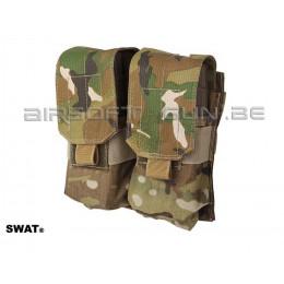 SWAT cordura double poche MOLLE M4 Multicam ( new webbing )