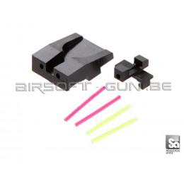 Mire de visée en fibre optique avant et arrière en aluminium pour XDM40 marui GBB