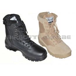 Boots tactiques avec fermeture eclair YKK thinsulate noir ou tan