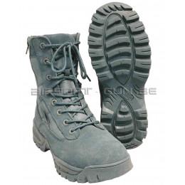 Boots tactiques avec double fermeture eclair YKK foliage green