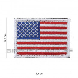 Patch USA à bord blanc avec velcro