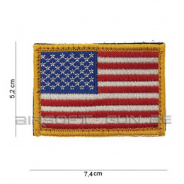 Patch USA à bord jaune avec velcro