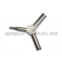 PPS clée pour valve en métal
