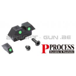 Guarder mire de visée set phosphorescente green pour GLOCK 17 Marui