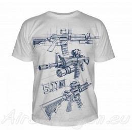 5.11 T-Shirt AR Sketch en divers couleurs