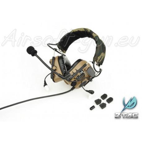 Z tactical casque auditif Comtac 4 en dark earth
