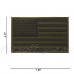 Patch PVC drapeau USA Vert olive