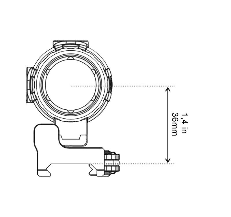 Hauteur centrage magnifier vector optics